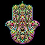 Uoopati Psychedelic Art Diamond Painting Kits for Adults, Hamsa Hand DIY 5D Pictures Round Drill Art Relaxation Wall Decor Stitch, 12x12 Inch
