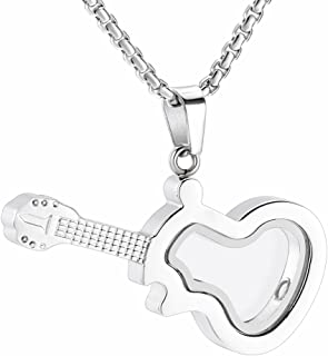 Glass of Heart Cremation Jewelry for Ashes Lost Loved Ones/Pets Stainless Steel Memorial Locket Urn Necklace Keepsake Pendant with Filling Kits