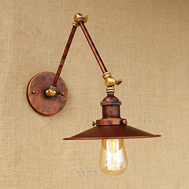 Rishx Rust Farbe Industrial Vintage Metal Wandleuchte verstellbare Schwinge Wandleuchte Licht E27 1-Licht Edison Simplicity Wandleuchte Beleuchtung (Gre   15+15)