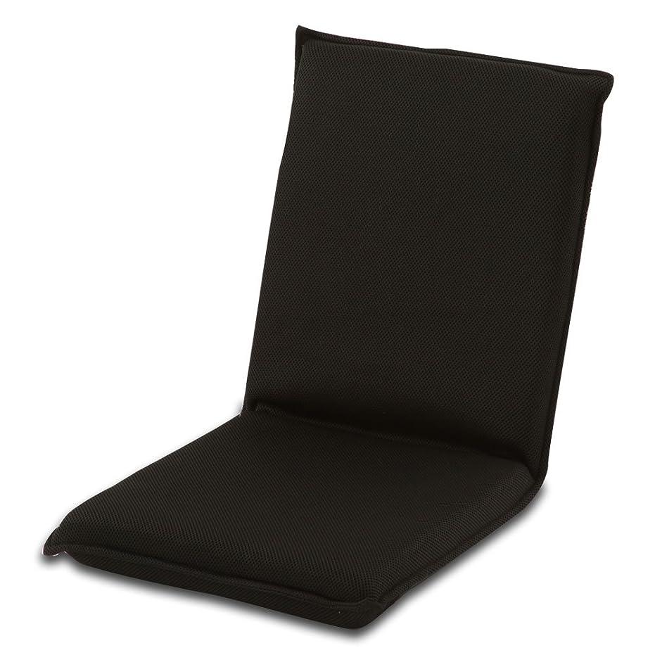 絶対に茎耐久ぼん家具 座椅子 軽量 コンパクト 折りたたみ リクライニング メッシュ 角度調節 収納 ブラック