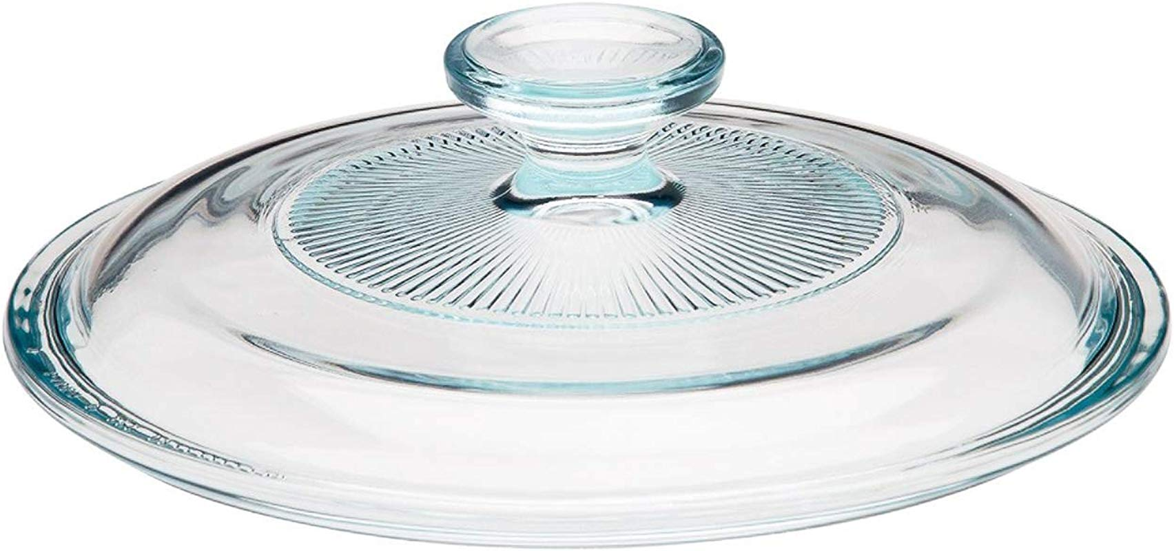 Corning Ware Pyrex Clear Round Glass Lid Ribbed 7 1 4 Dia G 5 C A