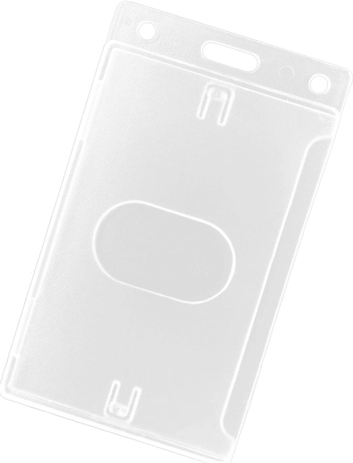 Fallen One 2 Pack Hard Same day shipping Courier shipping free Plastic ID Hol Vertical Holder Card Badge