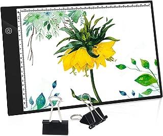Greensen LED Licht Pad A3 Leuchttisch Ultra Slim Light Pad Dimmbar LED Zeichnung Pad Copy Board mit USB Kabel Lichtkasten leuchtplatte Ideal f/ür Zeichnung Skizzierung Kopieren