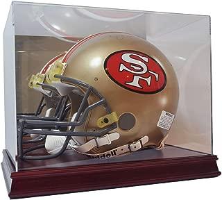 Deluxe Acrylic Wood Base Football Helmet Display Case