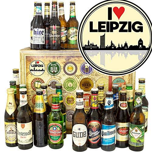 I love Leipzig/Bier aus der Welt und DE/Leipzig Geschenke für Frau/Adventskalender Bier