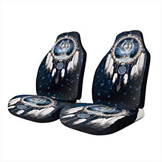 black wolf car seat covers