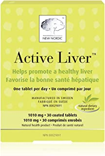 Sponsored Ad - New Nordic Active Liver, 30 Tablets Daily Liver Detoxifier and Regenerator with Milk Thistle Extract, Artic...