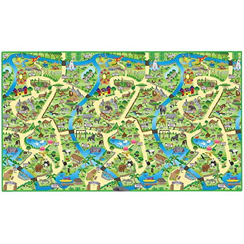 Eduk8 Worldwide- Nueva Alfombra de Juego Zoo, 200 x 120 cm (PMZOO/1)