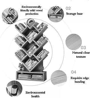 Bookcases Bookcase/Magazine Shelf Stylish Floor-Standing Bookshelf Solid Wood Study Floor-Standing Bookshelf Storage Shelf Li