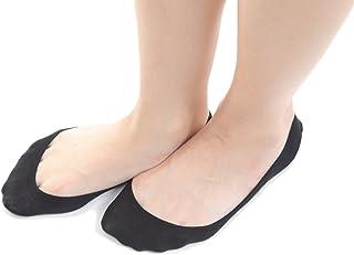 [Liapom] フットカバーソックス 浅履き 2足組 綿 シリコンゴム滑り止め付 脱げない