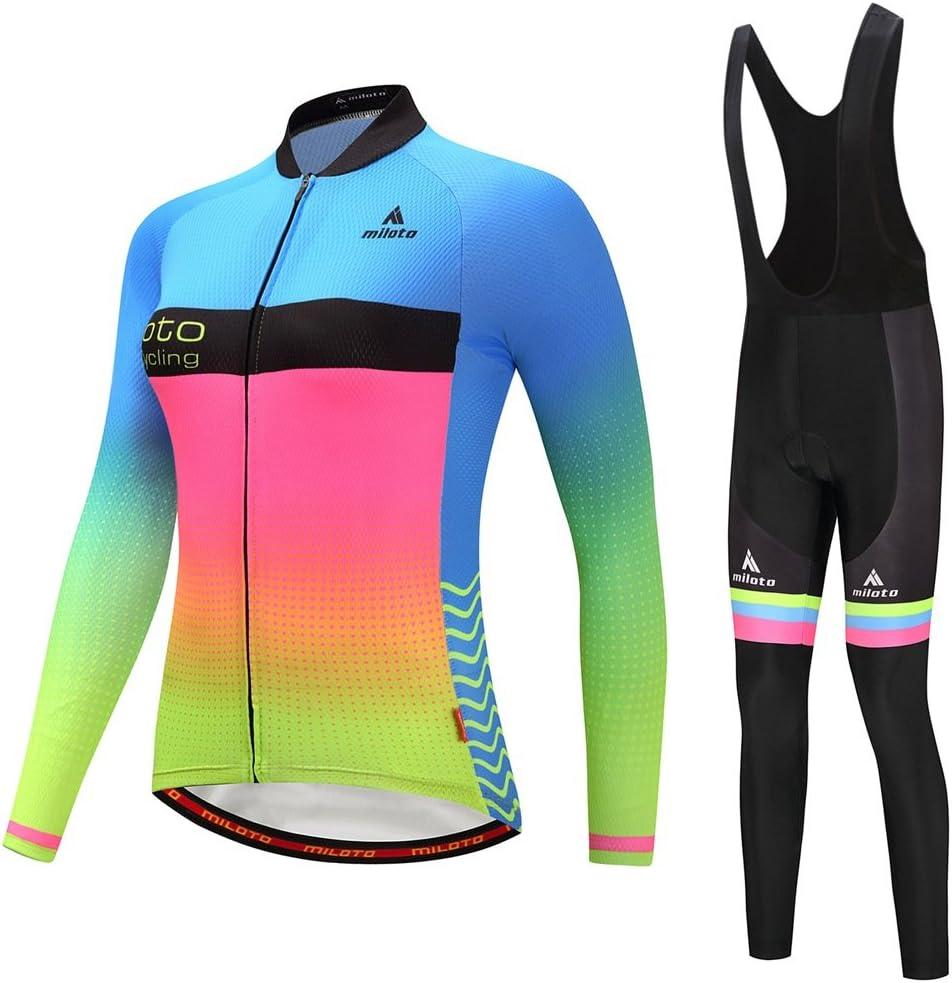 BIYINGEE Women's Cycling Jersey Arlington Mall Black Bib Sleeve Long Sets Cheap bargain Pants