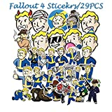 Fallout 4 Games Stickers 29pcs Cool Decals for Laptops Water Bottles Toys and Gifts Cars Stickers Cartoon Anime Aesthetic Sticker Pack for Teens, Girls, Women(Fallout 4 Games)