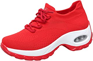 VonVonCo Shoes Elastic Durable Yoga Surf Sports Brogues Women's Fashion Casual Solid Sport Running Breathable Lace Up Sneakers
