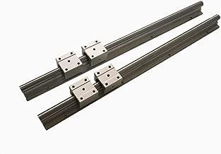 Joomen CNC SBR12-600mm LINEAR SLIDE GUIDE 2 RAIL+ 4 SBR12UU BEARING BLOCK