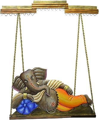 34bb0747d17 Buy Karigaari India Wrought Iron Radha   Krishna Riding on Jhula ...