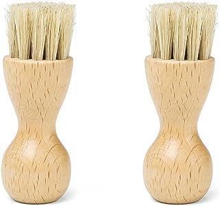 Leather Shoes Bristle Brushes Shine Cute Kit OZZEG 2 Pieces