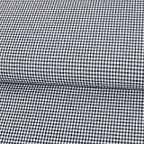 Baumwollstoff Seersucker Karo blau weiß Stretchstoff