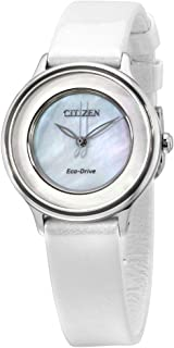 Circle of Time Eco-Drive Movement MOP Dial Ladies Watch EM0381-03D
