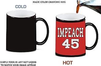 Impeach President Trump 45 Magic Color Morphing Ceramic Coffee Mug Tea Cup by Debbie's Designs