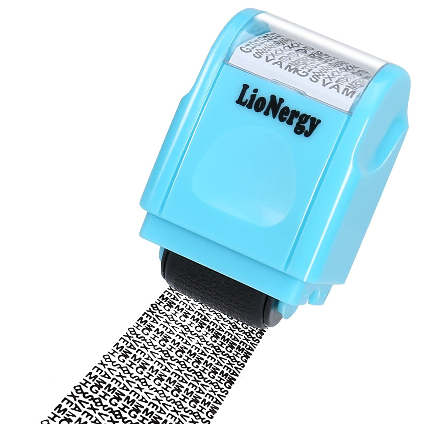 Identity Protection Roller Stamp Lionergy Wide Roller Identity Theft Prevention Security Stamp (Blue Roller Stamp)