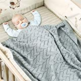 Manta de Punto para Bebé Recién Nacido, Surwin Suave y Cálida Color Sólido...