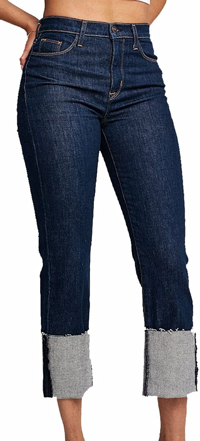 HUDSON Women's Jean Zoeey High Rise Straight Crop Jeans Revive WHCR261DCX RVV