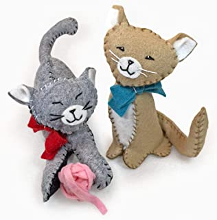 Heidi Boyd   Purrfect Pals Cats   Whimsy Kits   These Kitties are Guaranteed to Make You Smile with This All Inclusive Felt Craft Sewing Kit Age 13+