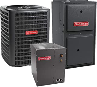 Goodman 3.5 Ton 15 SEER Air Conditioner GSX160421, Coil CAPF4961C6, 80,000 BTU 96% AFUE Downflow Gas Furnace GCSS960804CN