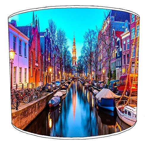 25cm stad van amsterdam lampekap9 Voor een tafellamp