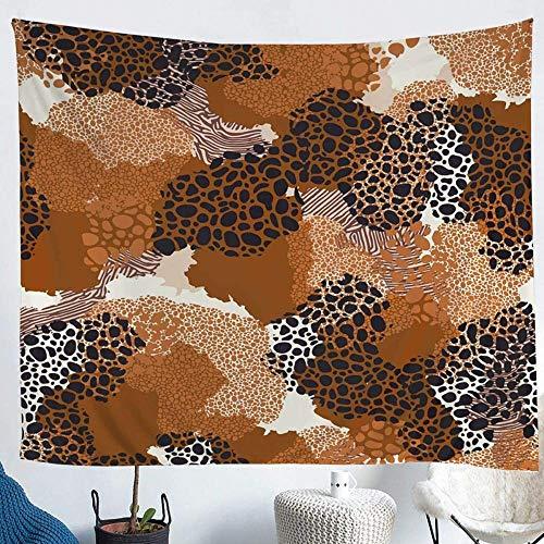WYFCLHH Tapiz de leopardo guepardo psicodélico, arte retro, manta para colgar en la pared, para dormitorio, sala de estar, decoración del hogar, 51.2 x _59.1 pulgadas