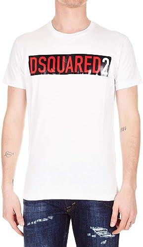 Dsquarouge2 Homme S74GD0479S20694100 Blanc Coton T-Shirt