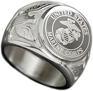 marine corps mens rings