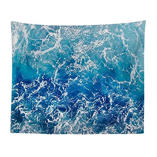 YYRAIN Tapiz De Tela De Pared De Tela Decorativa Nórdica De Puerto De Olas Frescas Tapiz De Fondo De Pared Mural De Playa 73x95cm(Thicken) C