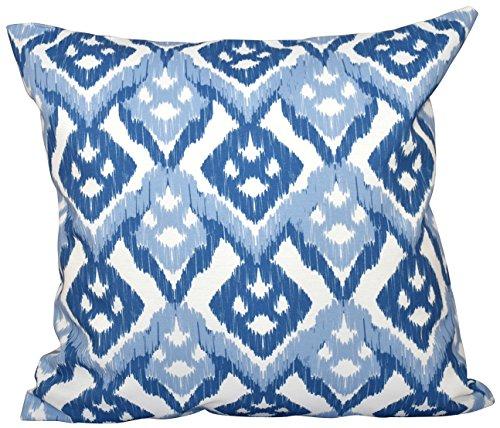 E by design Almohada para Exteriores con diseño Impreso de E, Color Azul