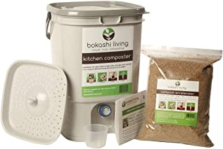 Bokashi Composting Starter Kit (1 Bin, 1 Bag of Bokashi and Full Instructions)