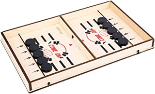 NUOBESTY 1 Set Slingshot Table Hockey Party Game Bouncing Chess Hockey Game Winner Board Games Toys for Parent-Child