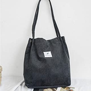 Canvas Tote Bag,Canvas Solid Corduroy Shoulder Bags Environmental Shopping Bag Crossbody Bags Purses Casual Fashion Handbag For Women