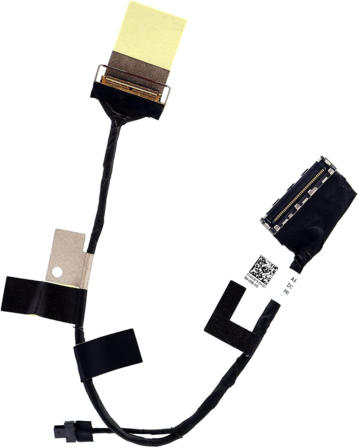 Deal4GO FHD LCD Video Cable AAZ80 Lvds eDP Cable HJ6Y9 0HJ6Y9 DC02C00BV10 for Dell XPS 13 9360 9350 P54G