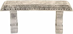 Exaco Trading Company Exaco FM-805 Endura Clay Garden Bench, Stone White