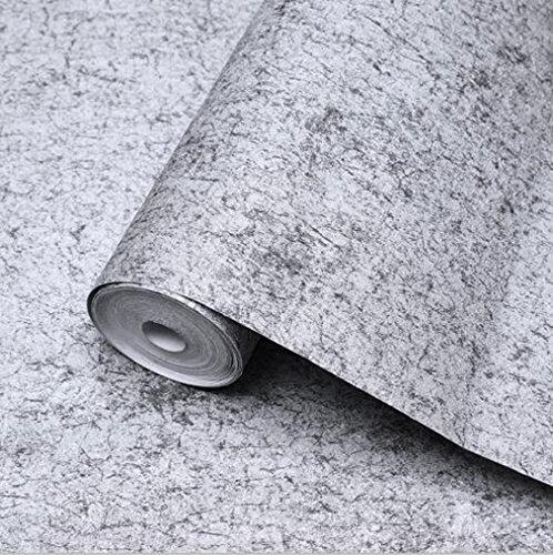 GAOJIAN Retro Pale Gray Wallpaper Tienda de prendas de vestir Cafés Internet...