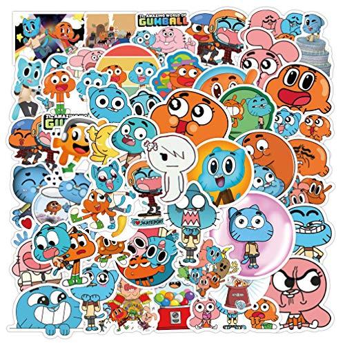 Dibujos Animados de Comedia Animada Agan MIAO World Lucky Hat Maleta Maleta Computadora Pasta Graffiti Glass Refrigerator Sticker 50 Uds
