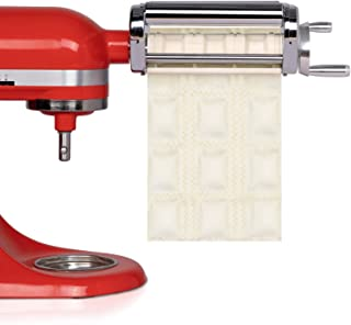 X Home Ravioli Cutter Attachment, Manual Stainless Steel Square Ravioli Maker Compatible with All KitchenAid Household Sta...