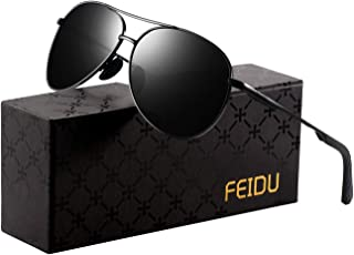 Polarized Sunglasses Aviator Sunglasses for Men - FEIDU Polarized Aviator Sunglasses for Men Sunglasses Man FD9002