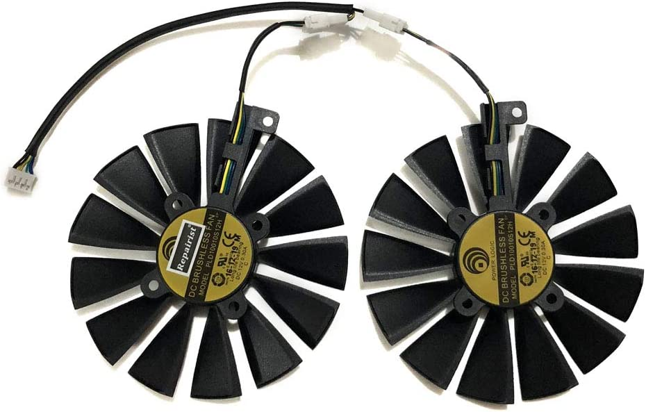 Graphics Card Fans PLD10010S12H Max 73% OFF for ASUS GTX- RX570 RX580 470 4G specialty shop