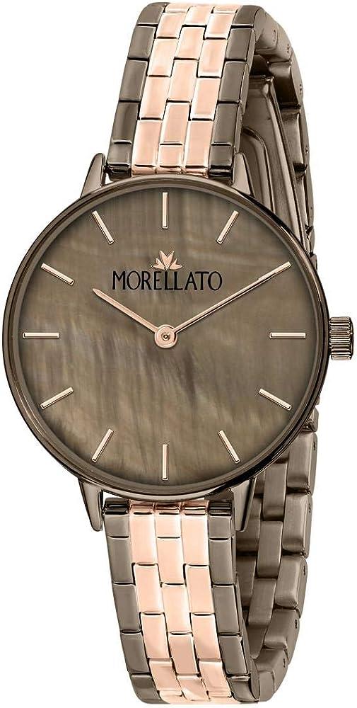 Orologio da donna morellato, in ottone, acciaio, pvd oro R0153142537