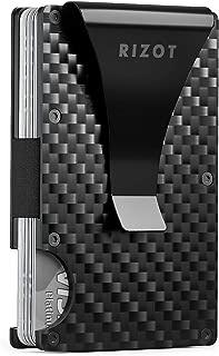 Carbon Fiber Wallet - Minimalist RFID Blocking Slim Wallet -Front Pocket Wallets for Men - Metal Wallet  - Carbon Fiber Money Clip  - Men Card Wallet