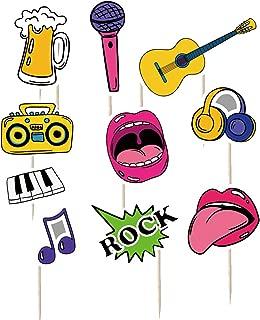 iMagitek 30 Pcs Karaoke 80's Cupcake Toppers Decorations for 80's Party Decorations Supplies