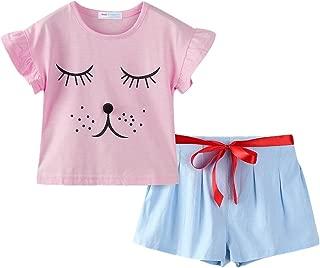 Littlespring Juego de pantalón Corto Little Girls 'Smiling