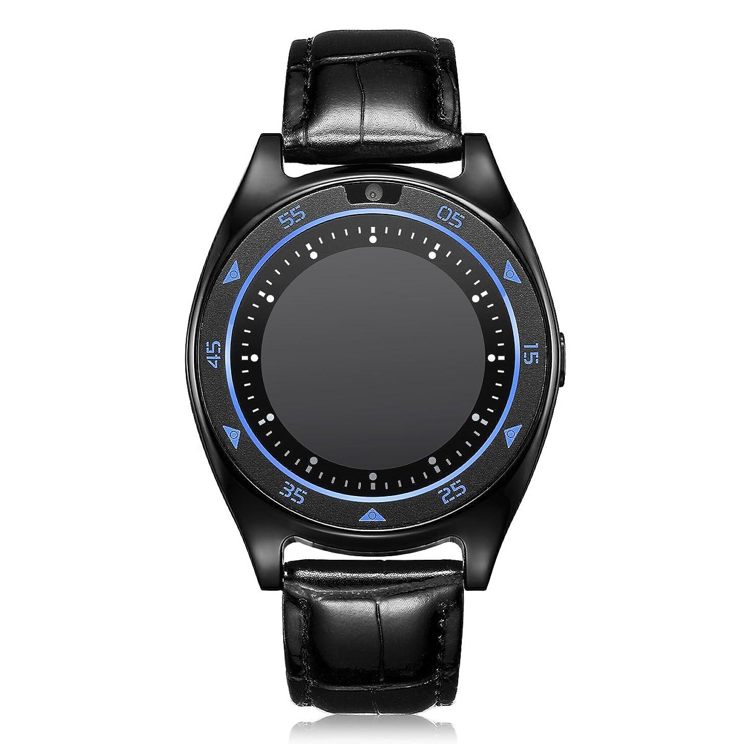 Unlocked Smart Watch Phone IIDA Bluetooth Fitness Tracker Watches Heart Rate/Blood Pressure/Blood Oxygen Monitor/Sleep Monitor Touch Screen SIM Card (Black)