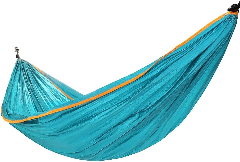 Travel Portable Hammock,Outdoor Double Parachute Nylon Hammock Lightweight Garden Leisure Swing Bed